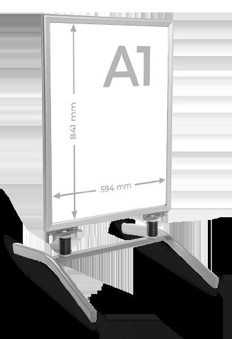 Reklamní stojan áčko s ocelovou konstrukcí