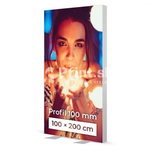 LED box s hliníkovým rámom 100 mm stojaci s tlačou