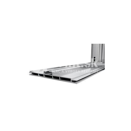 LED box s hliníkovým rámom 150 mm stojaci s tlačou