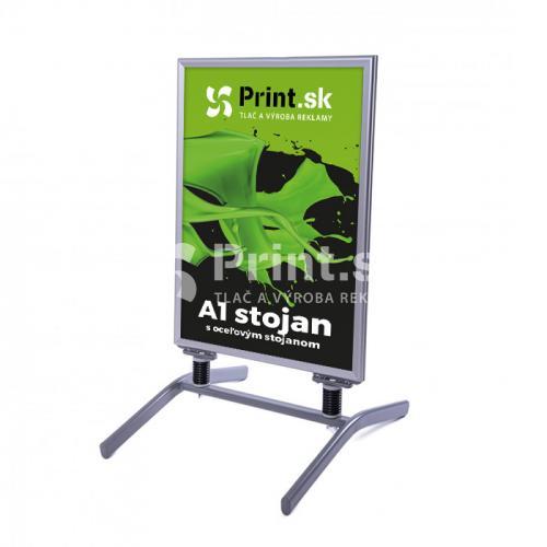 Reklamný A stojan s oceľovým stojanom - veľkosť A1 s tlačou