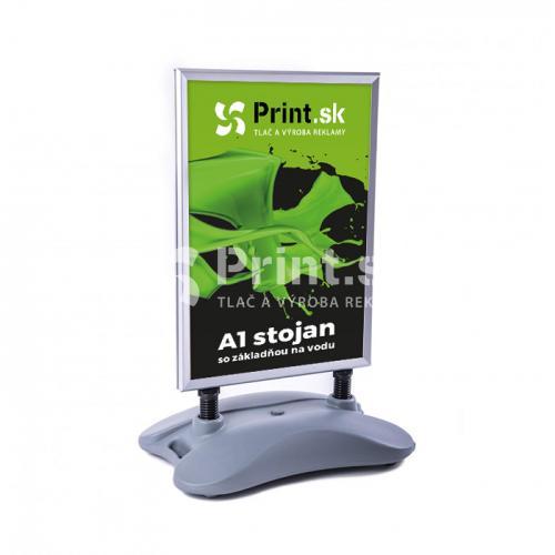 Reklamný A stojan so základňou na vodu - veľkosť A1 s tlačou