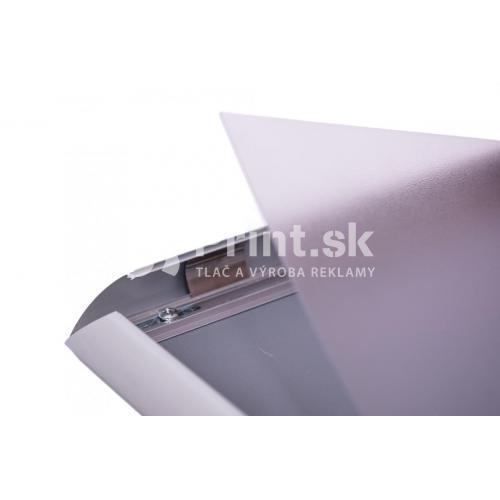 Klip rám A4 s ostrými rohmi s tlačou