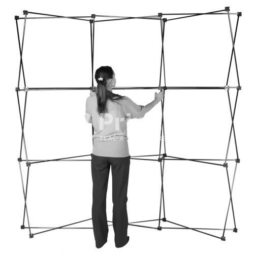 POP UP stena IMPACT Bundle rovná s tlačou