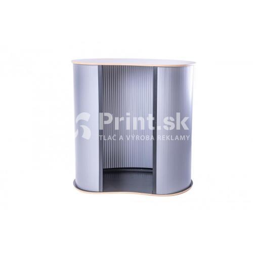 Prezentačný stolík Counter oblý s tlačou